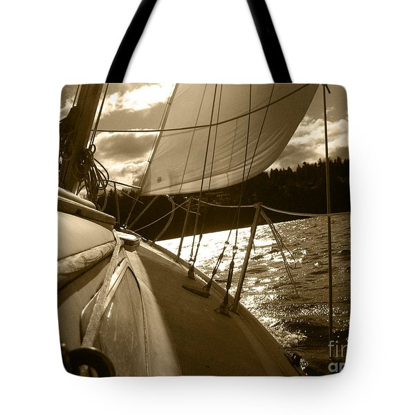 Time To Jibe  Tote Bag by Kym Backland