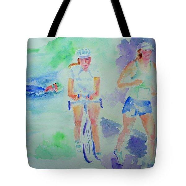 Time To Tri Tote Bag by Sandy Ryan