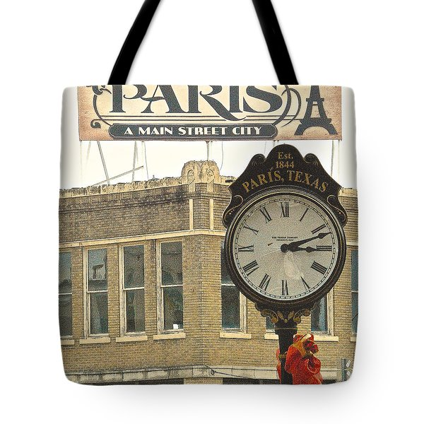 Tote Bag featuring the photograph Time To Visit Paris by Dee Dee  Whittle