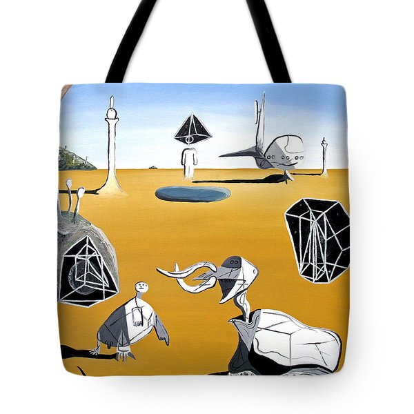 Tote Bag featuring the painting Time Travel by Ryan Demaree