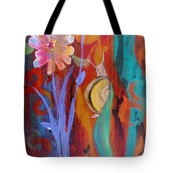 Tote Bag featuring the painting Time Traveler by Robin Maria Pedrero