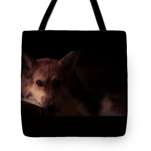 German Shepard Portrait Tote Bag