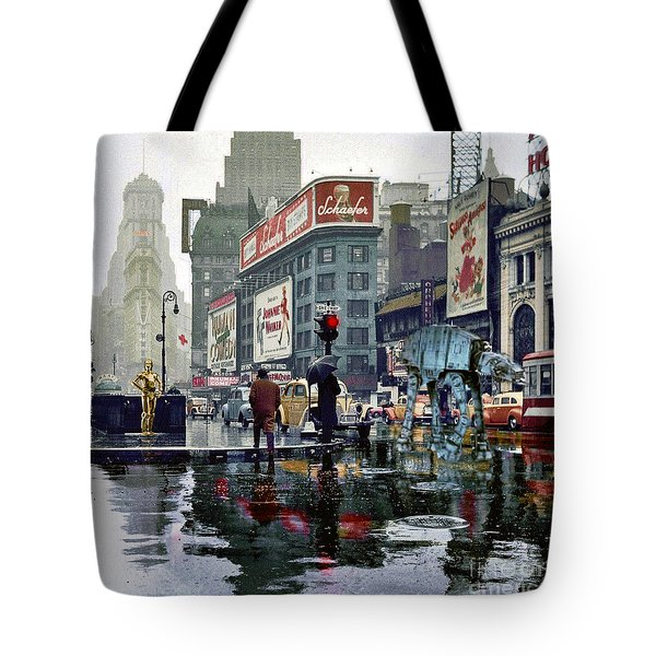 Times Square 1943 Reloaded Tote Bag