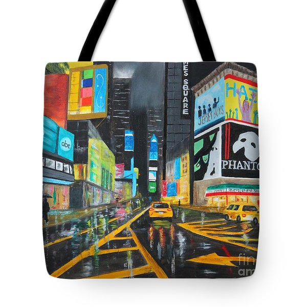 Times Square Tote Bag by Bev Conover