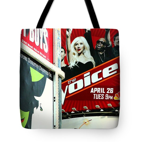 Times Square Billboards Tote Bag