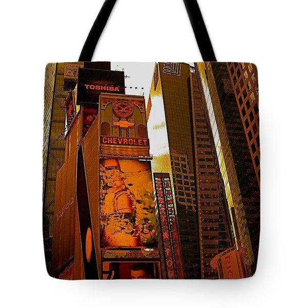 Times Square In Manhattan Tote Bag
