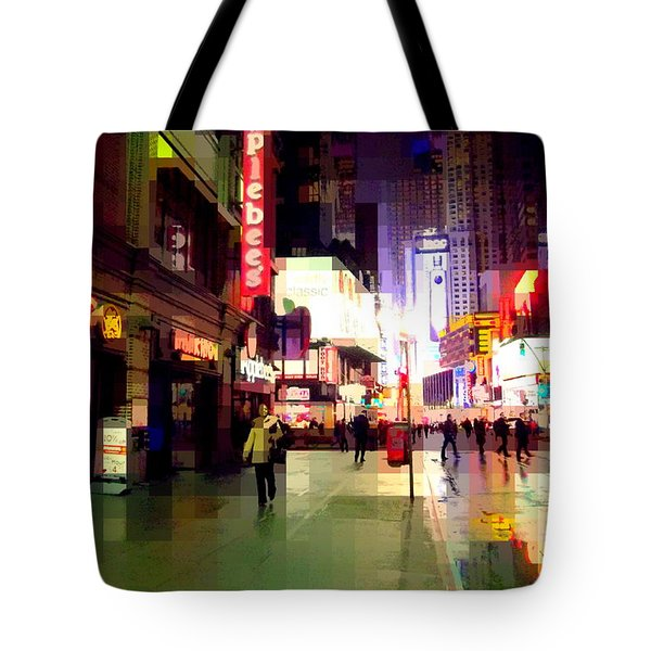 Times Square New York - Nanking Restaurant Tote Bag by Miriam Danar
