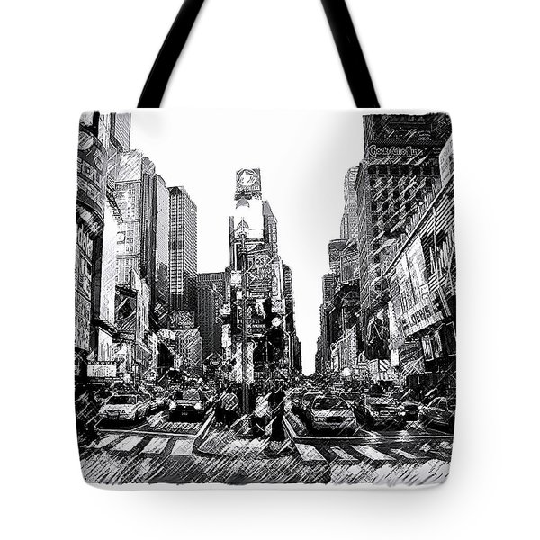 Times Square   New York City Tote Bag by Iconic Images Art Gallery David Pucciarelli
