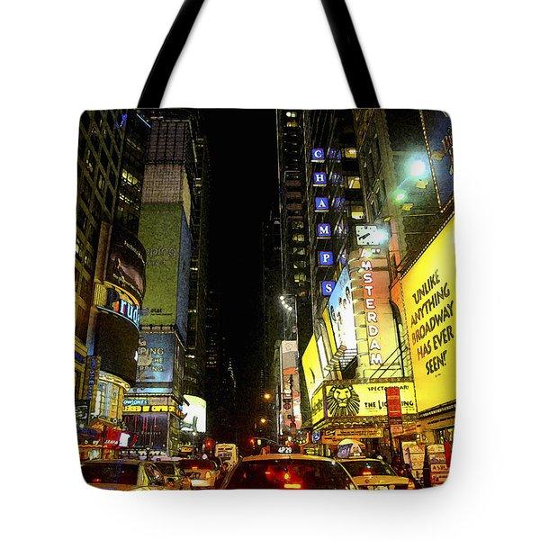 Times Square Photofresco Tote Bag by Joseph Hedaya