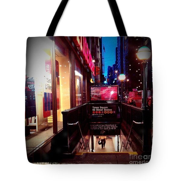 Times Square Station Tote Bag by James Aiken