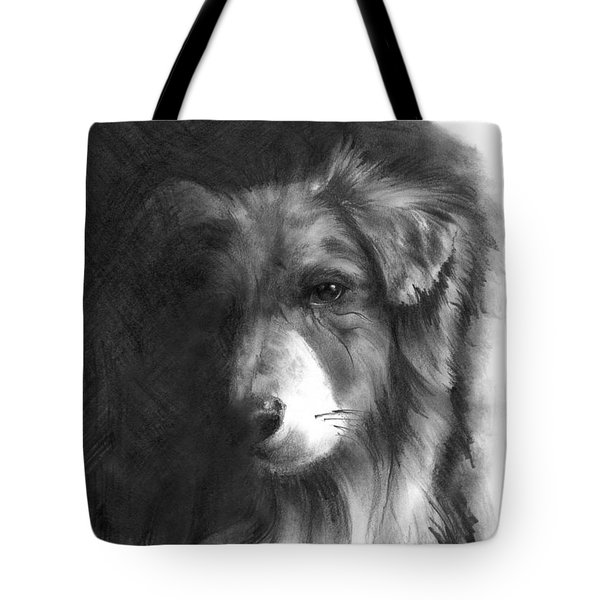 Tote Bag featuring the drawing Timmy by Paul Davenport