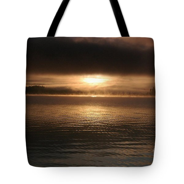 Timothy Lake Mysterious Sunrise 2 Tote Bag