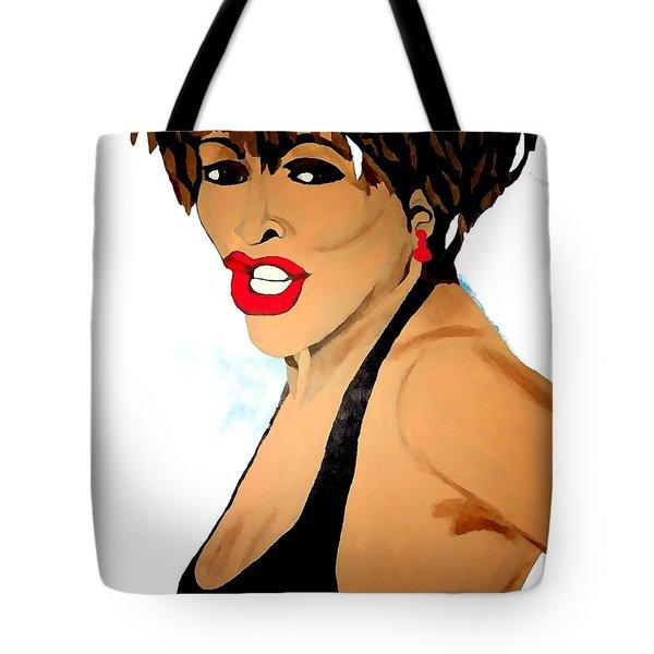Tina Turner Fierce 3 Tote Bag by Saundra Myles