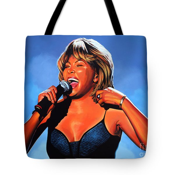 Tina Turner Queen Of Rock Tote Bag by Paul Meijering