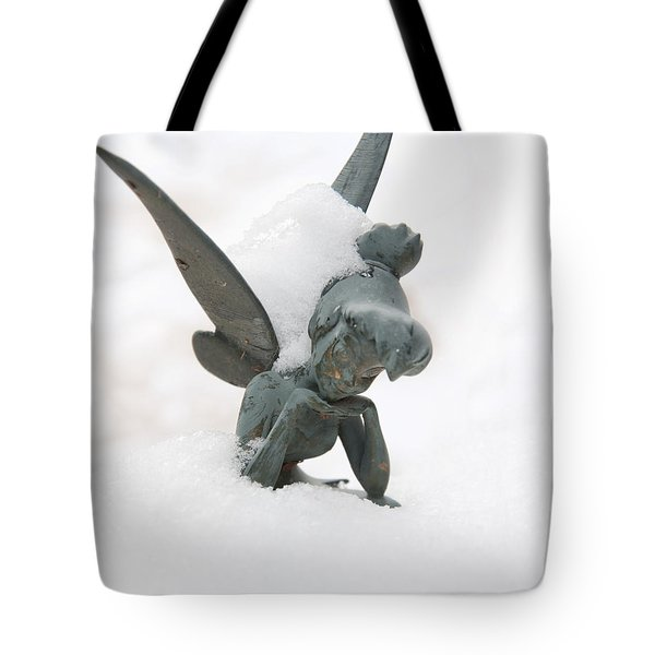 Tink In The Snow Tote Bag by Susan Cliett