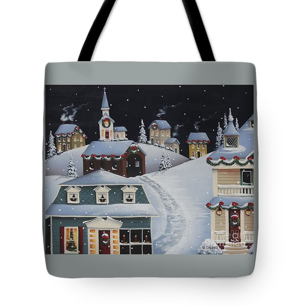 Tinsel Town Christmas Tote Bag by Catherine Holman