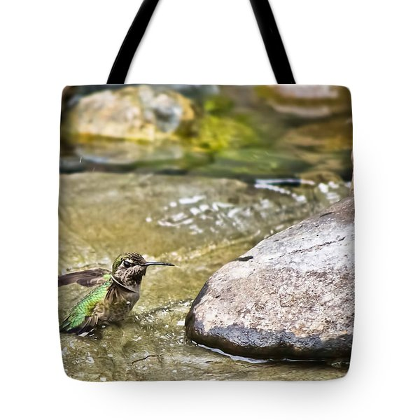 Tiny Bather Tote Bag