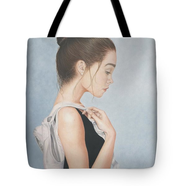 Tote Bag featuring the painting Tiny Dancer by Dee Dee  Whittle