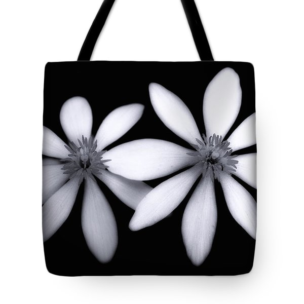 Tiny Dancers-black And White Tote Bag