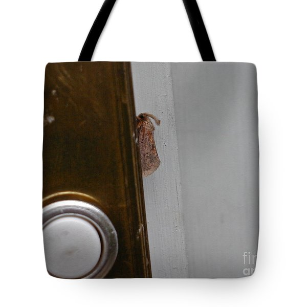 Tiny Doorbell Moth Tote Bag