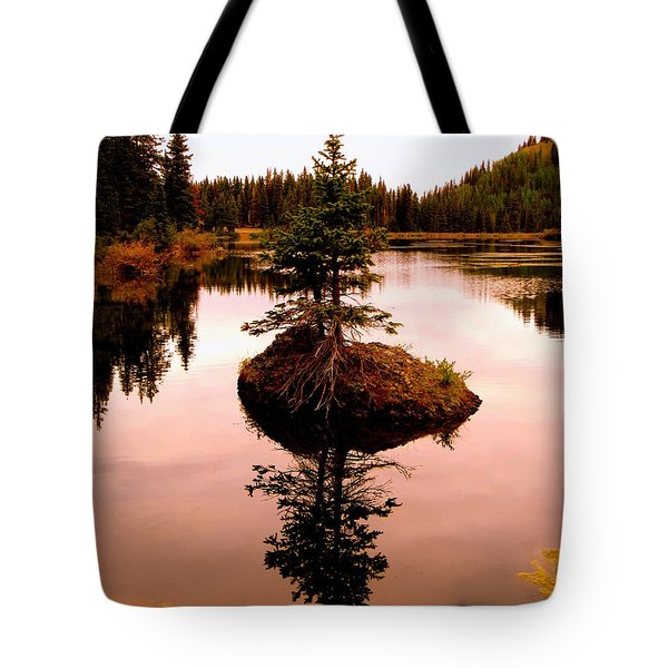 Tiny Island Tote Bag by Karen Shackles