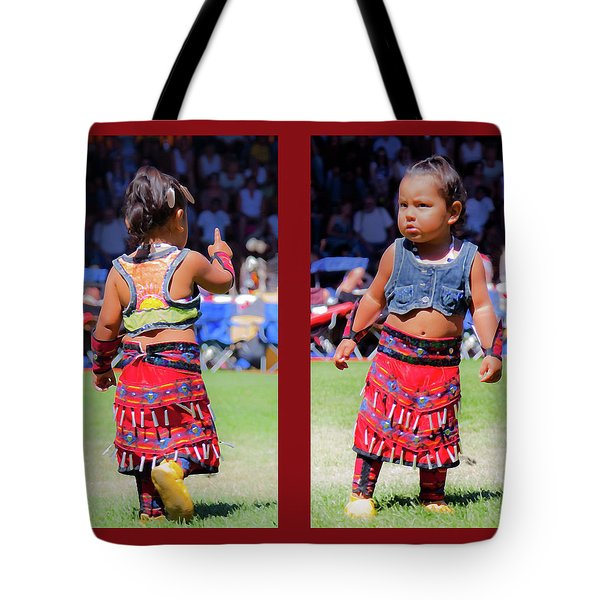 Tiny Jingle Dancer Tote Bag by Theresa Tahara