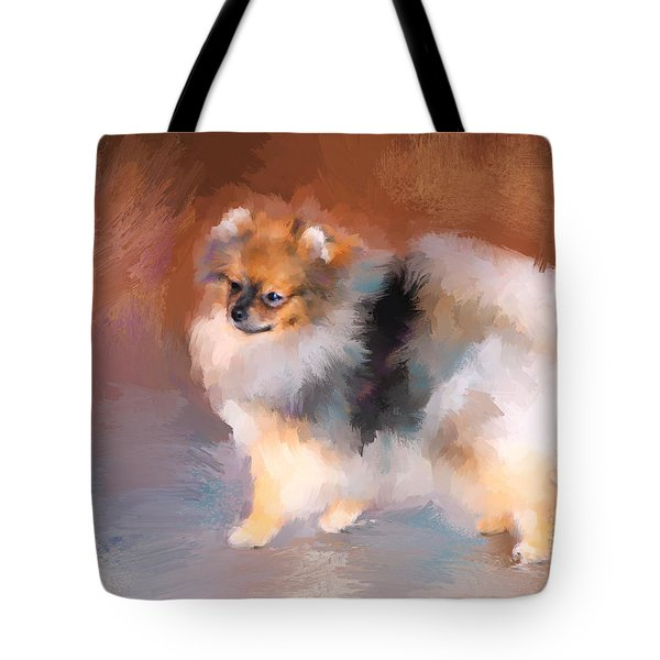 Tiny Pomeranian Tote Bag