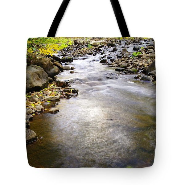 Tiny Rapids At The Bend  Tote Bag by Jeff Swan