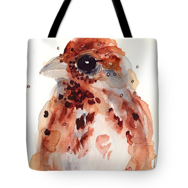 Tiny Sparrow Tote Bag by Dawn Derman