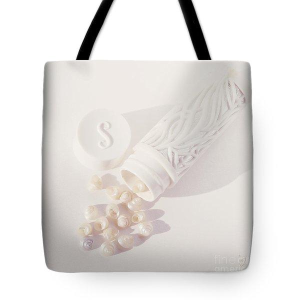 Tiny White Seashells Tote Bag