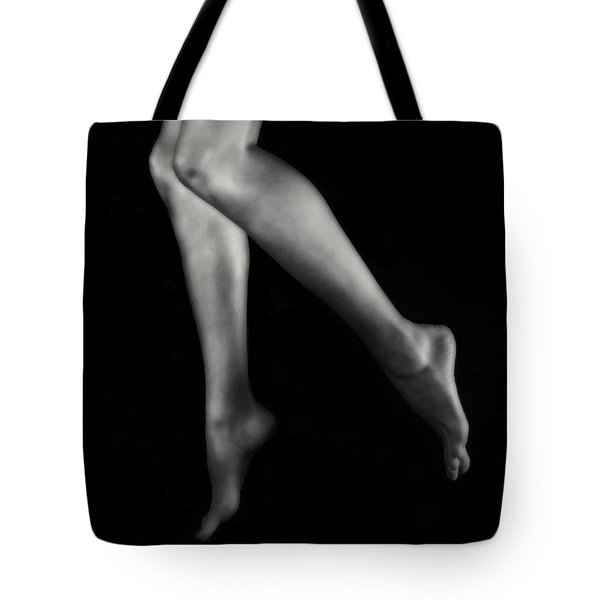 Tip Toe Tote Bag by Donna Blackhall
