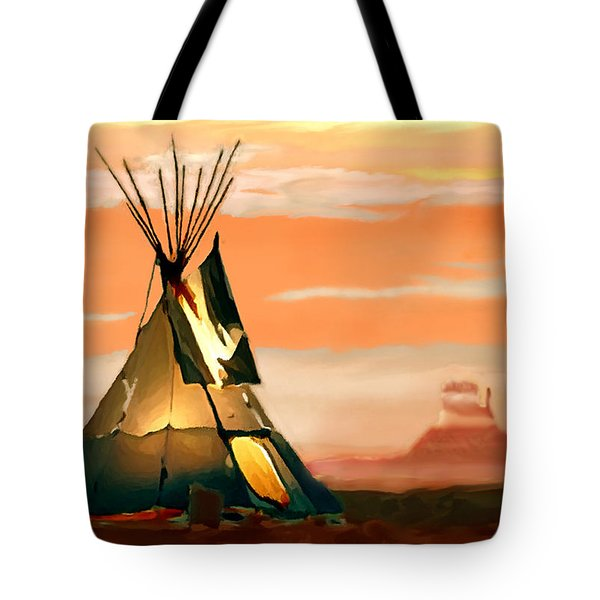 Tipi Or Tepee Monument Valley Tote Bag