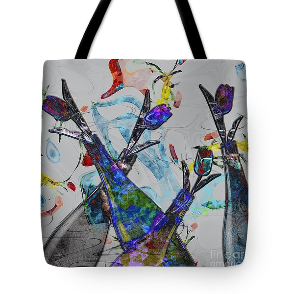 Tippy Tulips Tote Bag by Liane Wright