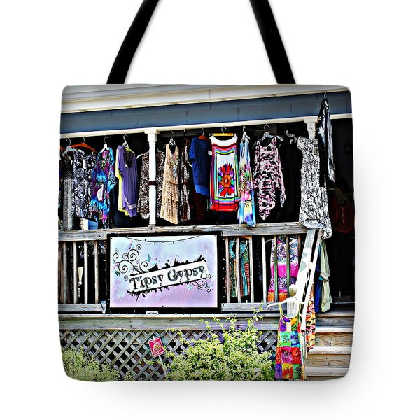 Tipsy Gypsy Tote Bag by Beth Vincent