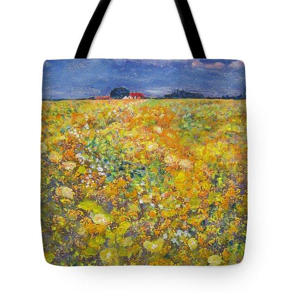 tiptoe Through Summer Meadow Tote Bag
