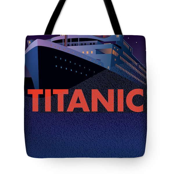 Titanic 100 Years Commemorative Tote Bag by Leslie Alfred McGrath