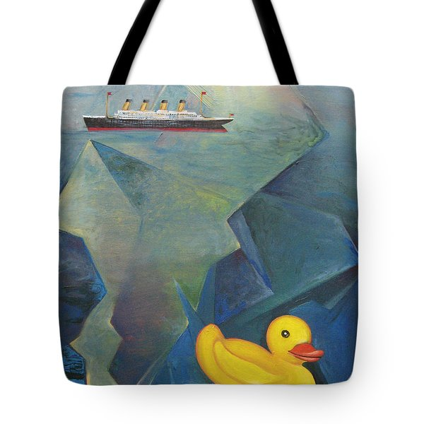 Titanic And The Ducky Tote Bag