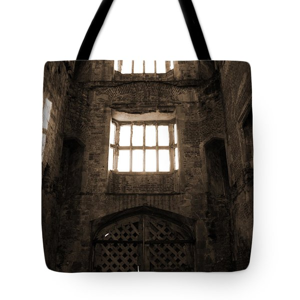 Titchfield Abbey Gatehouse In Sepia Tote Bag by Terri Waters