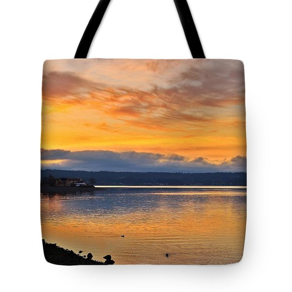 Tote Bag featuring the photograph Titlow Beach by Lynn Hopwood