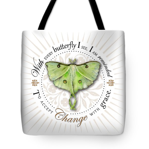 To Accept Change With Grace Tote Bag by Amy Kirkpatrick