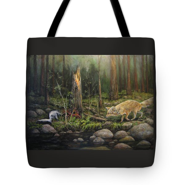 To Eat Or Not To Eat Tote Bag by Donna Tucker