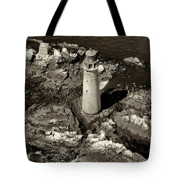 To Light The Graves Black And White Tote Bag