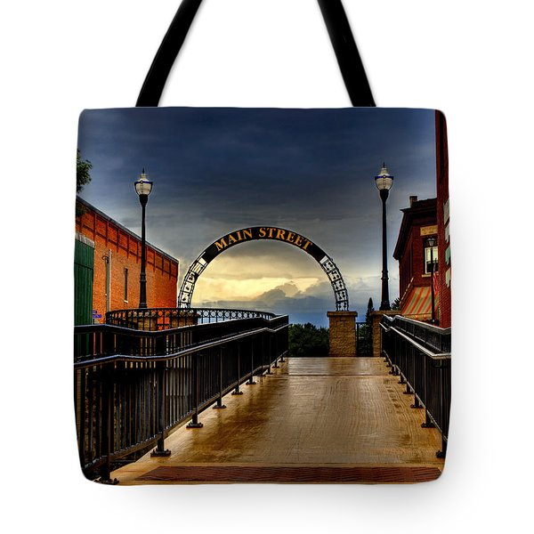 To Main Street Waupaca Tote Bag