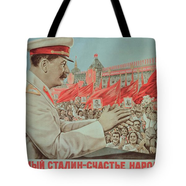 To Our Dear Stalin Tote Bag by Russian School