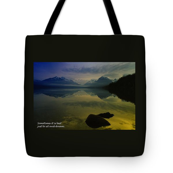 To Sit And Dream Tote Bag by Jeff Swan