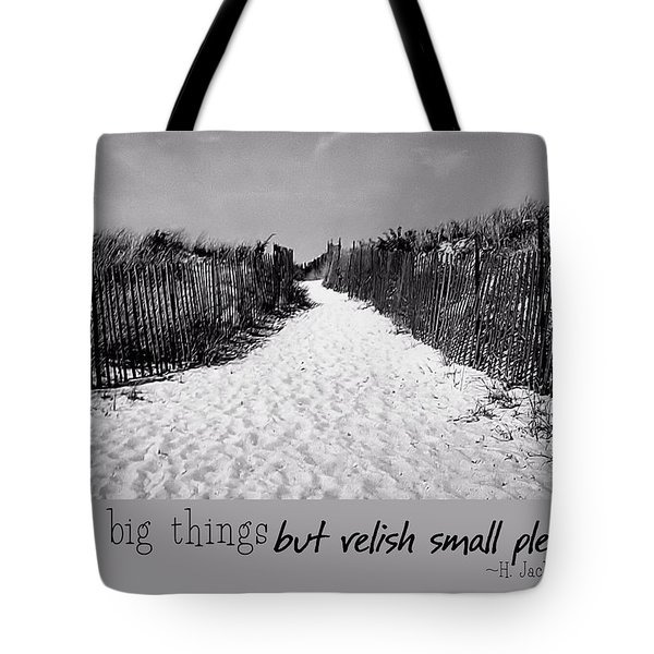 To The Beach Quote Tote Bag by JAMART Photography
