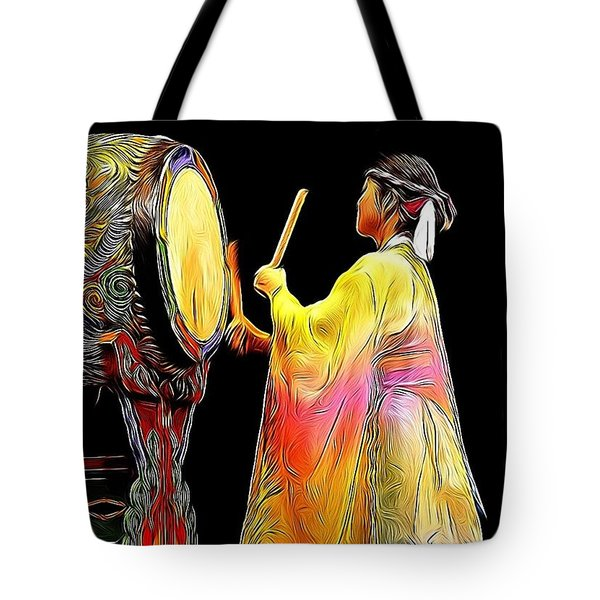 Beat Of The Drum Tote Bag