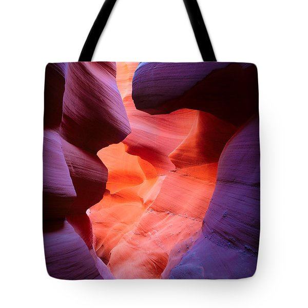 To The Center Of The Earth Tote Bag by Inge Johnsson