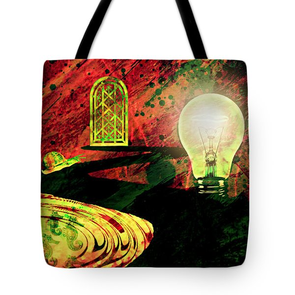 Tote Bag featuring the mixed media To The Light by Ally  White