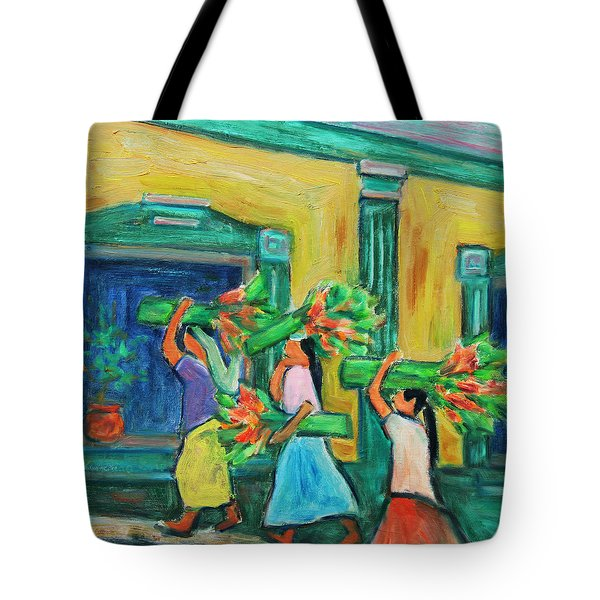 To The Morning Market Tote Bag by Xueling Zou